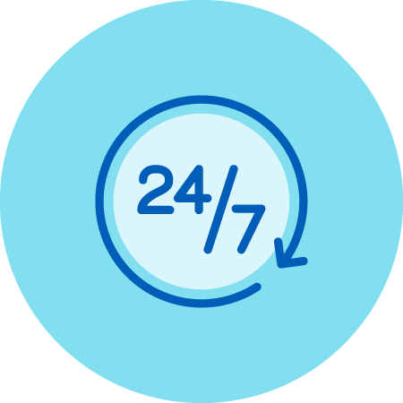 24/7 Availability Icon